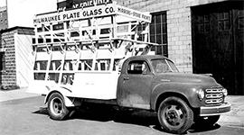 1950's Milwaukee Plate Glass Truck